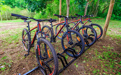 Bikes await at the Altair Galapagos Lodge on Santa Cruz Island.