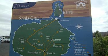Map of Santa Cruz, Galapagos. Flickr:Danielle Golon