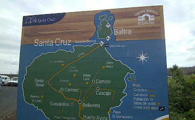 Map of Santa Cruz, Galapagos. Flickr:Danielle Golon