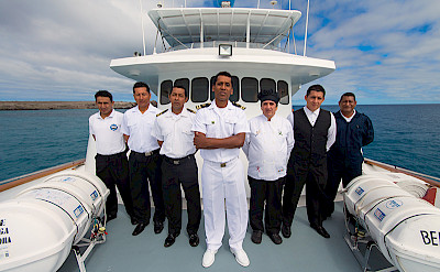 Your friendly crew on board the Beluga | Bike & Boat Tours