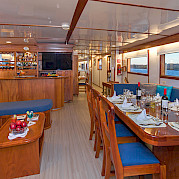 Saloon on Beluga | Bike & Boat Tours