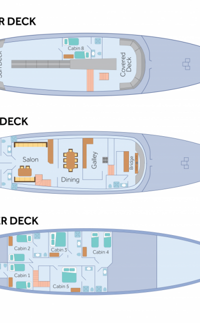 Deck plan - Beluga | Bike & Boat Tours