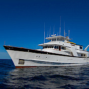 The yacht, Beluga, in the waters of the Galapagos | Bike & Boat Tours