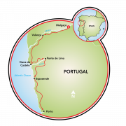North Portugal Map