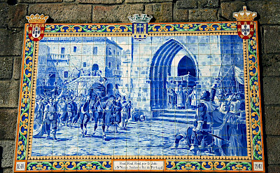 Beautiful blue tiles tell stories of long ago in Ponte de Lima, Portugal. Flickr:Vitor Oliveira