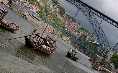 Storm brewing over the Duoro River in Porto, Portugal. Wikimedia Commons:Zoute drop