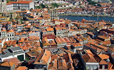 Red roofs adorn the city of Porto in norther Portugal. Flickr:Vitor Oliveira