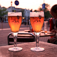 Enjoying a Belgium Pale Ale, Brugse Zot, in Amsterdam, North Holland. Flickr:frodemaracuja