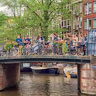 Bike rest in Amsterdam, North Holland, the Netherlands. Flickr:Diannlroy