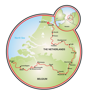 Amsterdam to Bruges via Maastricht - 14 days Map
