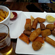 Fried treats in Amsterdam to fuel the bike tour! Flickr:fenlabalme