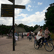Biking to and fro the Kroller-Muller Museum in Otterlo, the Netherlands. Flickr:bert knottenbeld