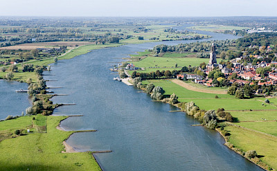 Rhenen on the Rhine River in Utrecht, the Netherlands. Wikipedia Commons:Joop van Houdt