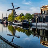 Windmill in the harbor of Gouda, the Netherlands. Flickr:Frans Berkelaar
