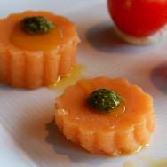 Tomato Jelly with Basil Pesto at Vino & Olio