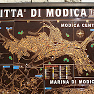 Old map of Modica, Sicily, Italy. Flickr:Bernt Rostrad
