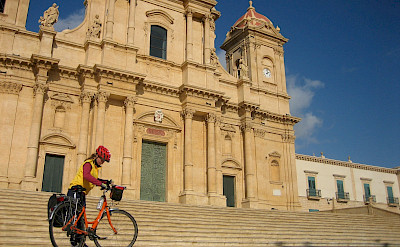Gea by the famous Noto Cathedral, Sicily, Italy. Photo by Hennie