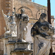 Statues at San Pietro Church in Modica, Sicily, Italy. Photo via TO