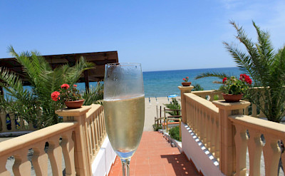 Champagne on the beach in Puglia, Italy. Flickr:drdcuddy
