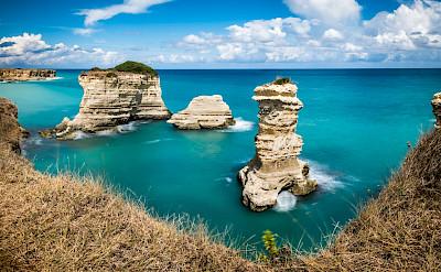 Along the coastline in Puglia, Italy. Flickr:Giuseppe Milo