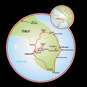 Puglia - Heel of Italy Map