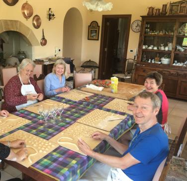 Making pasta in Puglia.