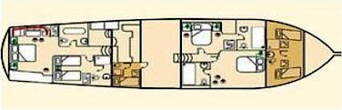 Floor plan Silver Star II - Bike & Boat Tours