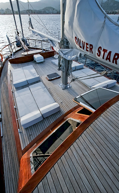 Sun deck - Silver Star II - Bike & Boat Tours