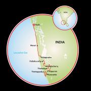 Fishing Villages of Kerala Map