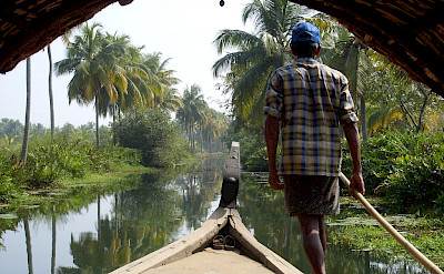 Cruising the river in Kerala, India. Flickr:Fraboof