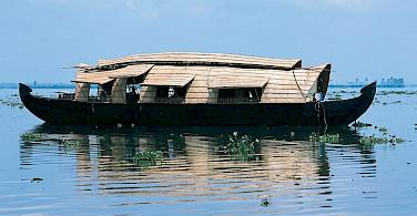 Rice boat in Kerala, India.