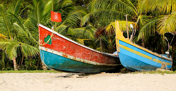 Boat rides at Marari Beach in Kerala, India. Flickr:Andy Kaye
