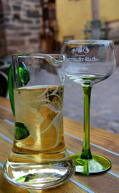 White wine in Alsace, France. Flickr:Pug Girl
