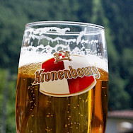 Most of the beer produced in France comes from Alsace. Kronenbourg is one local brewery. Wikimedia Commons:Joel Cox