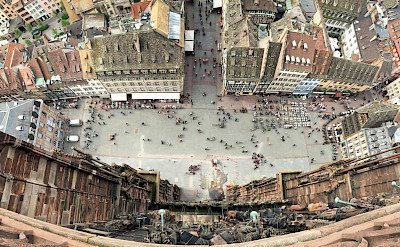 Looking down from the Cathedral in Strasbourg, Alsace, France. Flickr:Charlie Hasselhoff