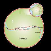 Estrasburgo a Nancy Mapa