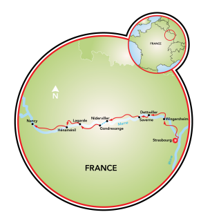 Strasbourg to Nancy Map