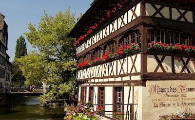 Half-timbered architecture in Strasbourg, France. CC:Jonathan Martz