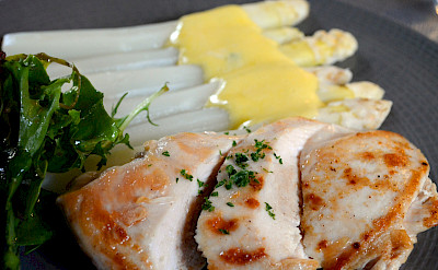 Spargel, or white asparagus, is another common dish in Alsace, France. Flickr:Pug Girl
