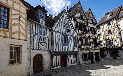 Traditional houses in Auxerre, Burgundy. Flickr:bebopeloula