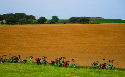Bike rest in Burgundy. France.