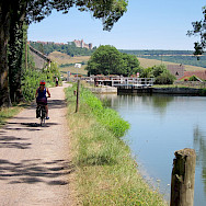 Biking along the River in Burgundy, France. Flickr:Brad Kaplan