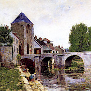 Grey Day Moret painting by William Lamb Picknell, Burgundy, France. Flickr:Irina