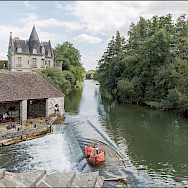 Biking through Moret-sur-Loing, France. Flickr:GKSens-Yonne