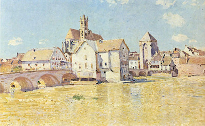 Moret-sur-Loing as painted by Alfred Sisley, who found inspiration in the beautiful, little town along with other Impressionists (Monet, Renoir). CC0