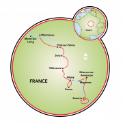 Northern Burgundy Map
