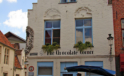 The Chocolate Shop in Bruges, Belgium. Flickr:Raider of Gin
