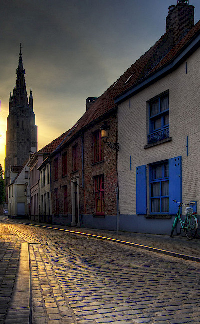 Cobblestone old streets await in Bruges, Belgium. Wikimedia Commons:Wolfgang Staudt