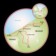 West Flanders & Bruges Map