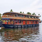 Typical house boat in India